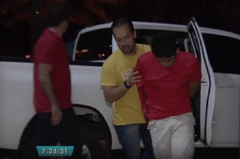 Apoena Índio do Brasil preso pela PF por ser o piloto de avião com 600 kg de cocaína (Foto: Reprodução/TV Anhanguera)