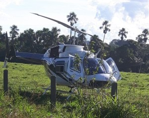 Helicóptero usado nas operaçoes
