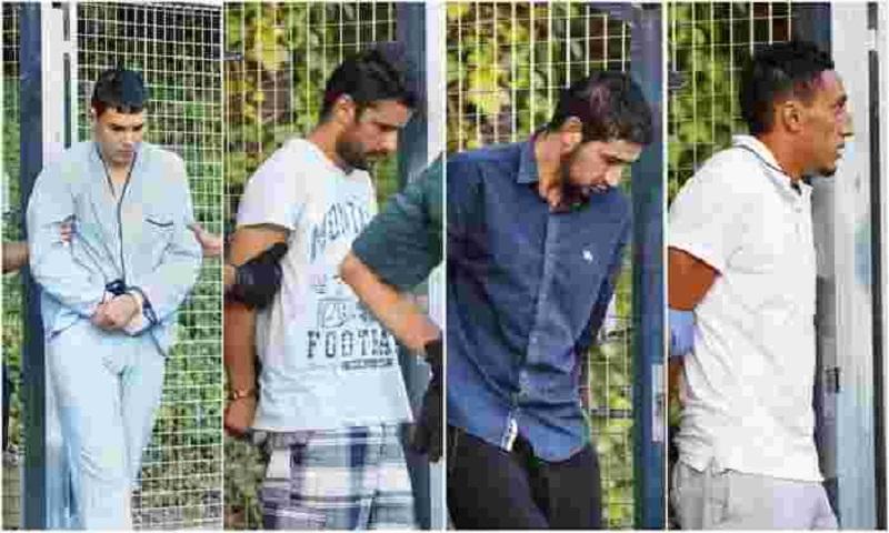 Da esquerda para direita: Mohamed Houli Chemlal, Mohamed Aallaa, Salah El Karib e Driss Oukabir— os quatro terroristas presos por envolvimento nos atentados na Catalunha - Reprodução