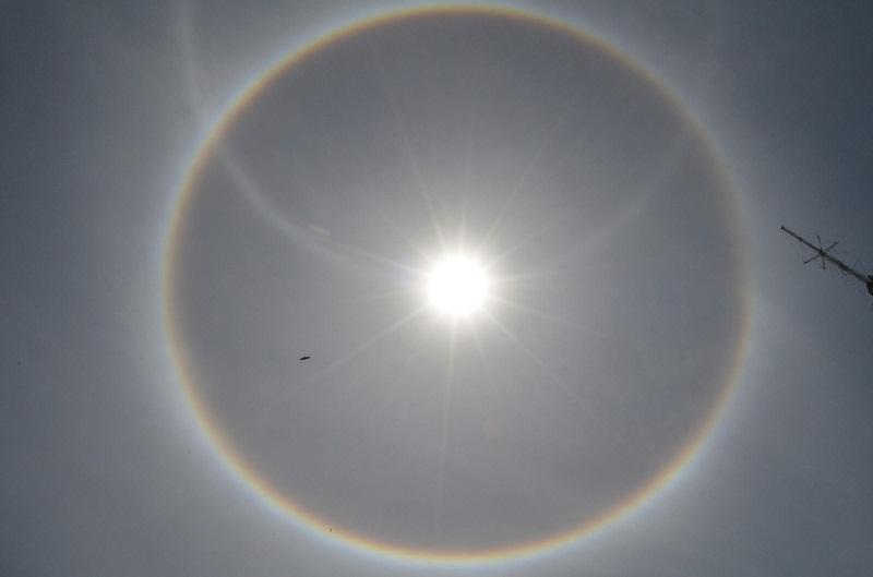 'Halo Solar' foi registrado no céu de Santarém (Foto: Geovane Brito/G1)