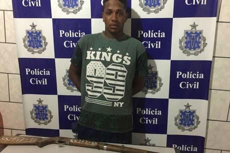 Manuel Pascoal da Cruz Pires foi preso logo após o crime. (Foto: Divulgação/Polícia Civil Bahia)