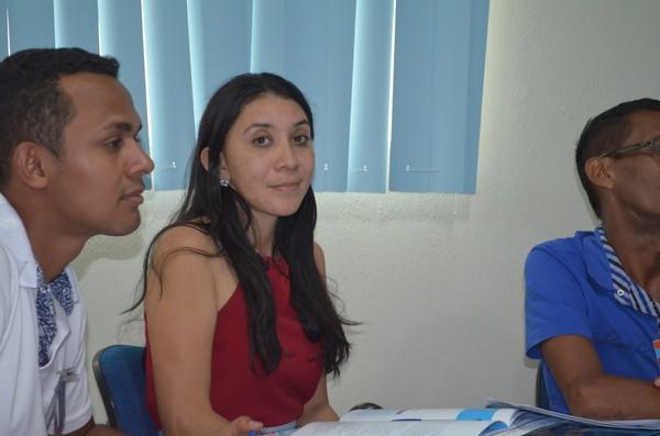 Articuladora de Porto de Moz, Luciane Vieira viajou oito horas de lancha até Santarém, para participar da capacitação (Foto: Fábio Cadete/G1)