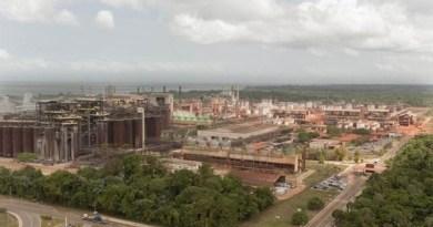 Fábrica da Hydro Alunorte em Barcarena, no Pará (Foto: Reprodução/TV Liberal)