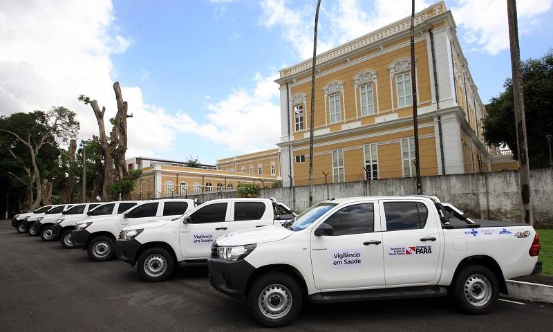 Nove caminhonetes foram entregues para diferentes regiões do Pará  FOTO: MÁCIO FERREIRA / AG. PARÁ DATA: 07.03.2018 BELÉM - PARÁ