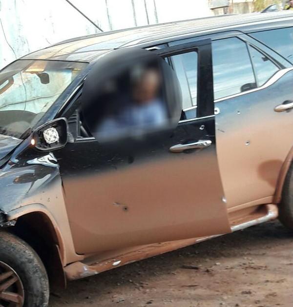 Prefeito foi perseguido e atingido por disparos quando chegava em Colniza (MT) (Foto: Arquivo pessoal