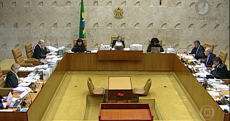 Ministros do STF reunidos em plenário durante a sessão desta quarta (28) (Foto: Nelson Jr./SCO/STF)