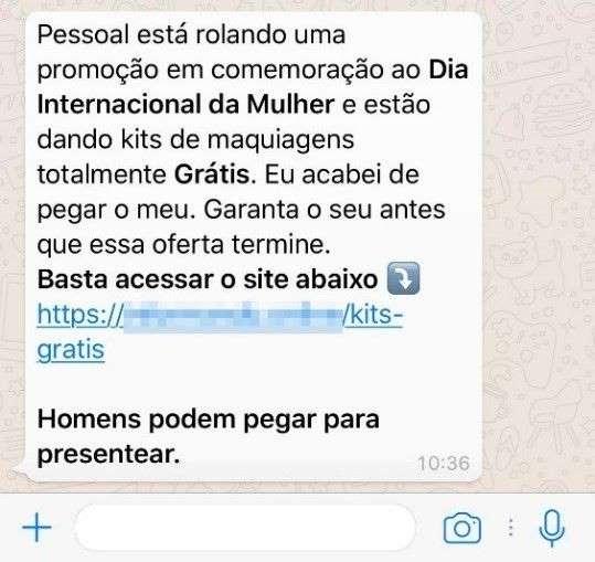 Novo golpe do WhatsApp usa o Dia Internacional da Mulher como isca