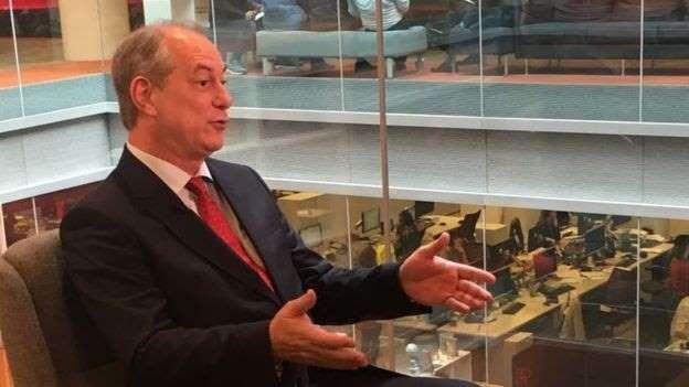 O ex-ministro Ciro Gomes: Fora do PT, Ciro Gomes (PDT) é o mais bem posicionado para herdar votos de Lula, diz Rui Tavares Malu (Foto BBC Brasil )