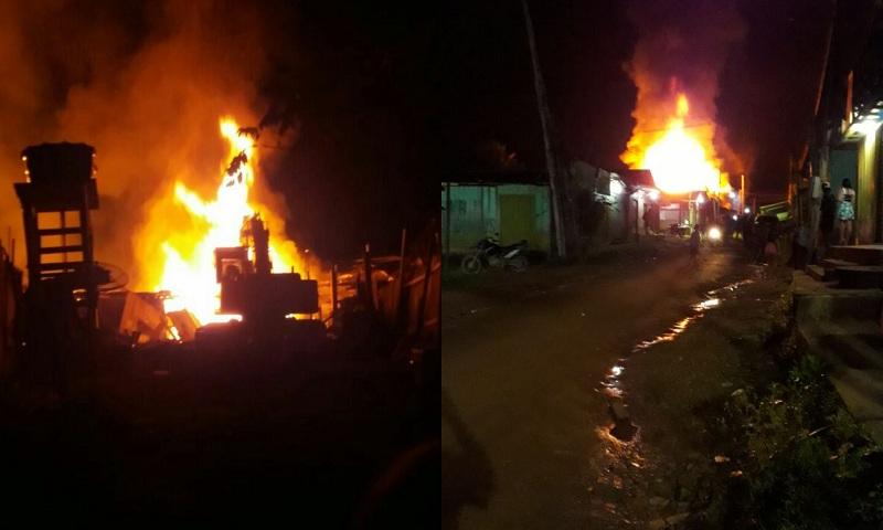 Hotel e duas residências destruídas por incêndio
