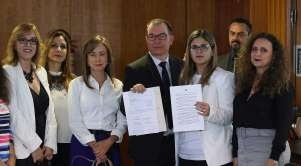 Juízes com o manifesto(Foto Divulgação)