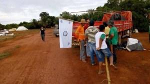 Área foi invadida na madrugada da terça-feira (26) (Foto: ANU/Divulgação)