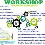 WORKSHOP DE TECNOLOGIA E FINANÇAS DA FACULDADE CATÓLICA CAVANIS