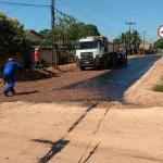 Prefeitura de Novo Progresso anuncia obras e inicia asfalto em ruas da cidade