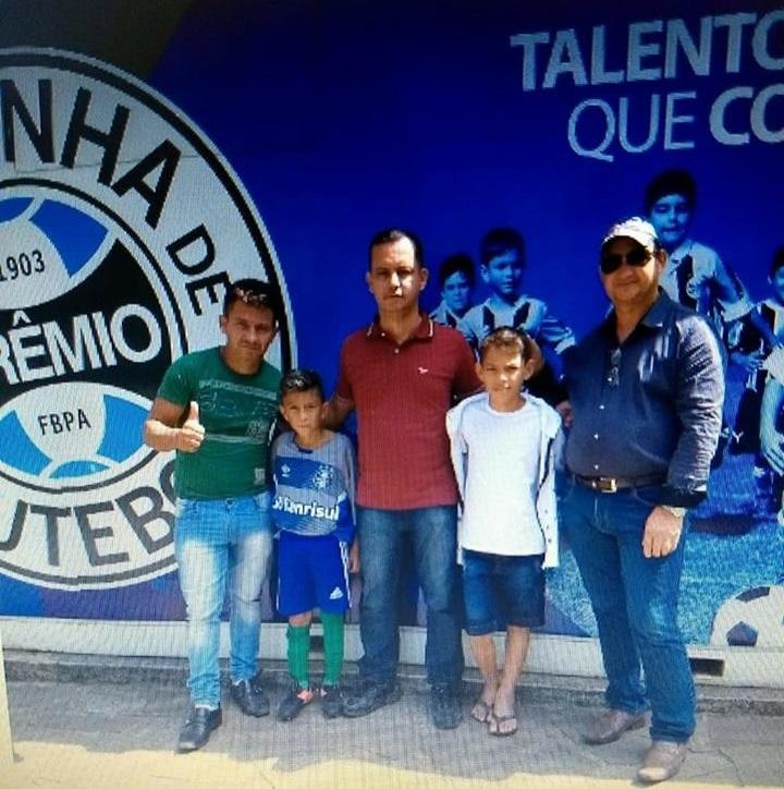 Enzo em seu primeiro teste no Grêmio em Porto alegre (RS), em Dezembro de 2017. (Foto:Arquivo Pessoal)>