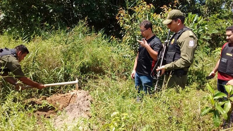 Policiais fizeram nesta quinta (19) o percurso indicado pelo GPS (Foto: divulgação/Polícia Civil)