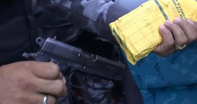 Passageiro é preso em ônibus em MT com pistola, barra de ouro e R$ 9 mil em espécie