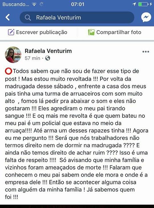 Postagem do Facebook