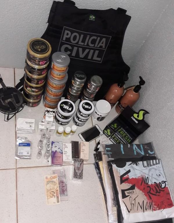 Operação Narciso apreendeu anabolizantes dinheiro falso (Foto: Polícia Civil de MT/Assessoria)