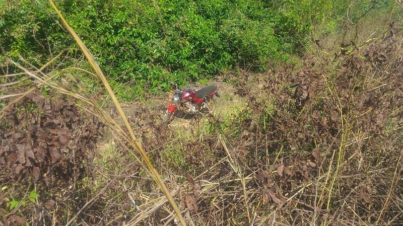 Local onde a motocicleta foi encontrada pela PM de Matupá (Foto: Polícia Militar de MT)