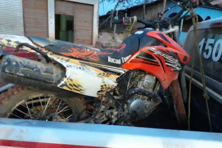 Moto era utilizada pelo acusado.