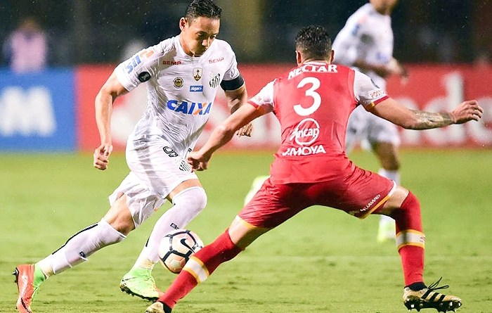 Santos x Santa Fe Copa Libertadores - abril 2017 (Djalma Vassão/Gazeta Press)