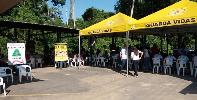 Órgãos parceiros da PRF participam do Comando de Saúde em Santarém — Foto: PRF/Divulgação