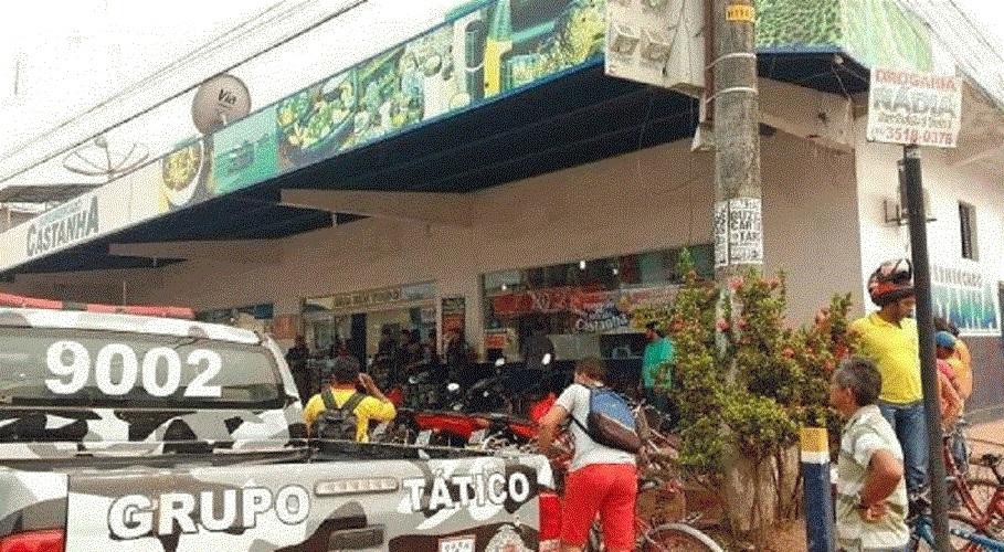 Ladrões roubam 100 mil reais do Supermercado Castanha em Castelo de Sonhos