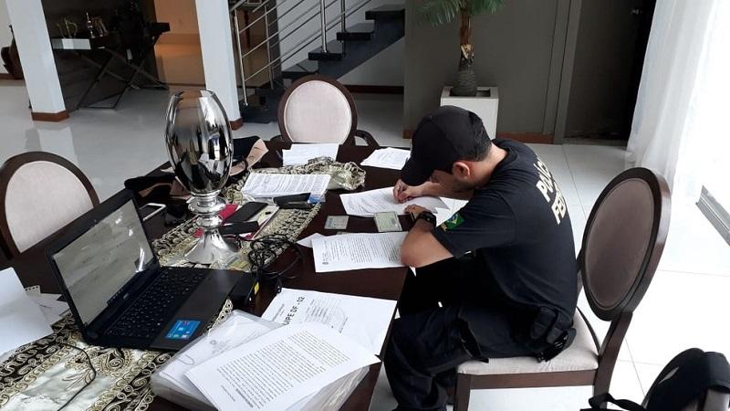Operação da PF com a Receita Federal apura desvios de R$ 2 milhões em fraudes de licitações da Prefeitura de Marabá — Foto: Divulgação / Polícia Federal