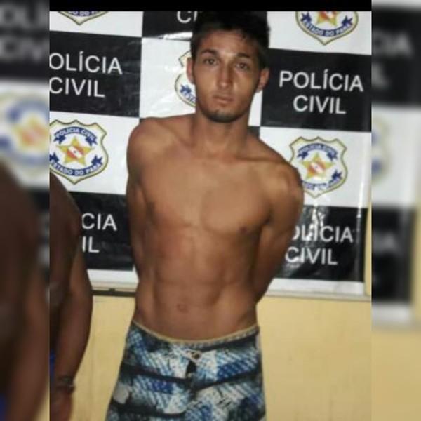 Eduardo de Oliveira Marques foi detido em Alenquer, após irmão confirmar seu envolvimento — Foto: Divulgação/Polícia Civil
