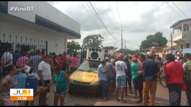 Manifestantes ocuparam sede da Celpa, em Tucuruí(Foto:Reprodução)
