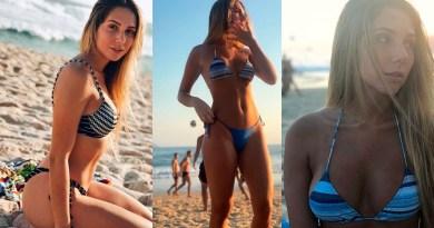 FÃS ENLOUQUECIDOS Filha de Renato Gaúcho, Carol Portaluppi faz vídeo de biquíni mostrando 'frente e verso'