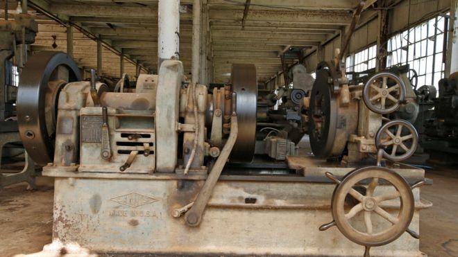 """Máquina na Fordlândia O maquinário usado era """"Made in USA"""""""