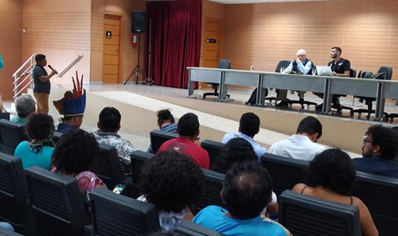 Reunião da comissão da Comissão Interamericana de Direitos Humanos no Ministério Público do Pará em Santarém — Foto: MP-PA/Divulgação