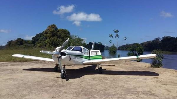 Avião monomotor PT-RDZ transportava sete índios Tiriyó, além do piloto, e desapareceu na Amazônia no dia 2 de dezembro — Foto: Flávia Moura/Arquivo Pessoal