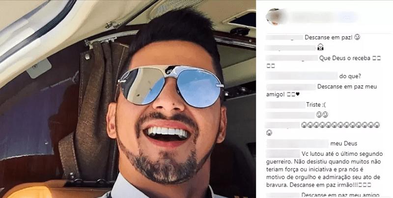 Cristiano Felipe Rocha Reis morre após ficar mais de 30 dias internado em hospital de Goiânia — Foto: Reprodução/Instagram