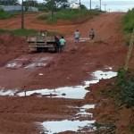 No período chuvoso, moradores enfrentam ruas intrafegáveis em Novo Progresso