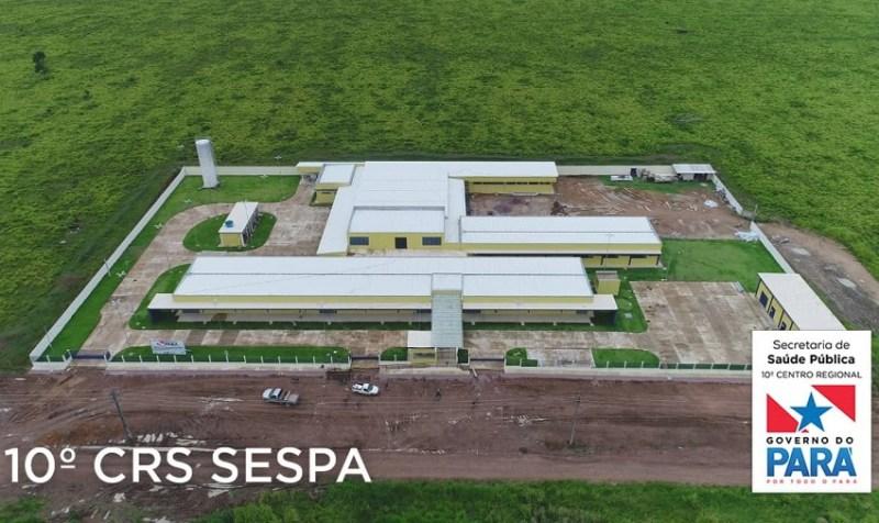 Vista aérea do Hospital (Foto:WhatsApp)