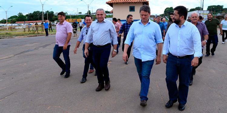 Ministro Tarcísio Gomes em visita a Santarém em fevereiro deste ano (Agência Pará)