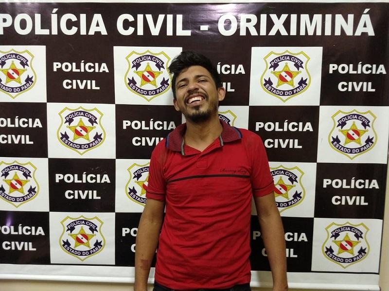 'Cuecão' ficará à disposição da Justiça na carceragem da Delegacia de Oriximiná — Foto: Polícia Civil de Oriximiná/Divulgação