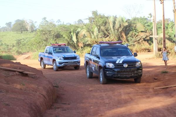 Operação Lost, em Rurópolis, contou com a participação das polícias Militar e Civil — Foto: Polícia Militar/Divulgação