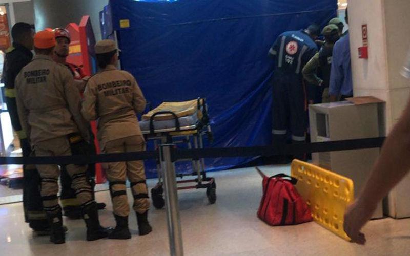 Equipes do Corpo de Bombeiros e do Samu estiveram no local.  (REPRODUÇÃO)