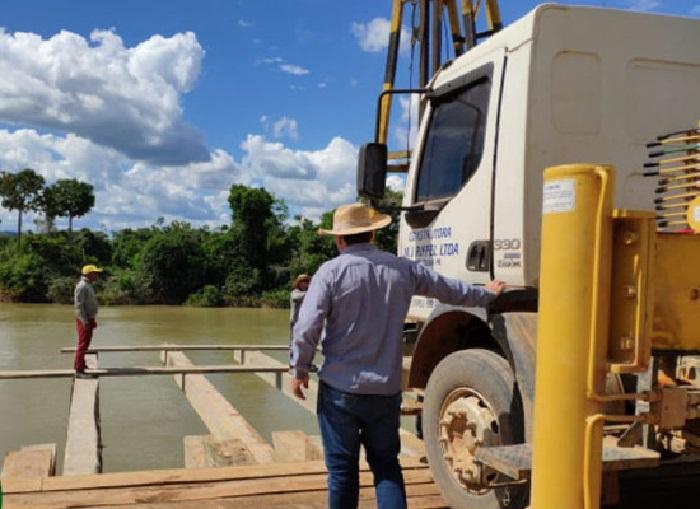 Ponte sobre rio jamanxim em Jardim do Ouro(Foto:Prefeitura de Itatiuba)