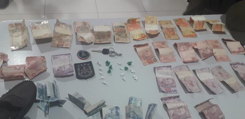 Droga e dinheiro apreendido (Foto:Divulgação Policia)