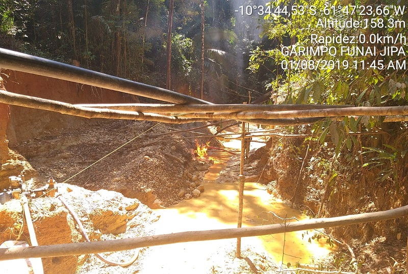 Dano ambiental na reserva invadida já é grande — Foto: PMA/Divulgação