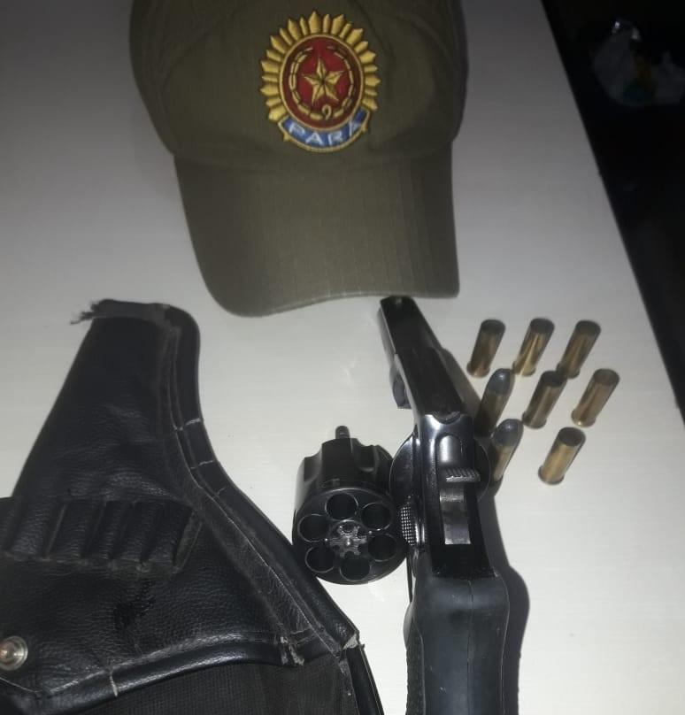 Arma apreendia pela polica militar (Foto:Divulgação )