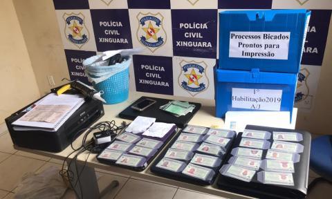 CNH EMITIDAS DE FORMA FRAUDULENTAS  (Foto:Policia)