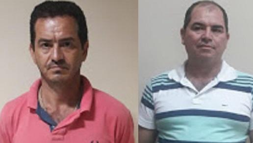 José Airton dos Santos (Juninho Borracheirro) foi preso em Novo Progresso, o ex-vereador Valdivino Teodoro dos Santos , foi preso no distrito de Caracol município de Trairão.(Foto:Divulgação Policia Civil)