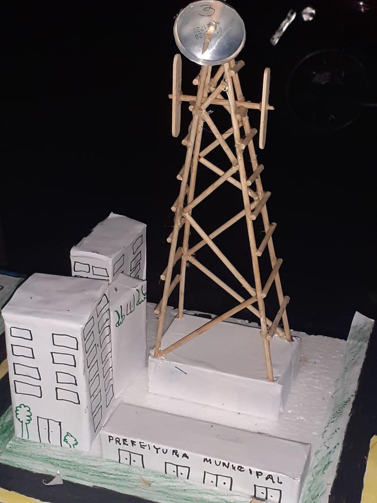 Maquete tem torre da wsp e planeja prefeitura no distrito de Vila Isol. (foto:WhatsApp)