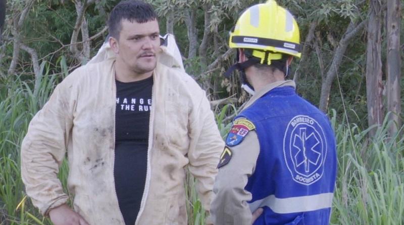 Apicultor conta que ouvi estrondo da queda do avião, em Cascavel — Foto: RPC/Reprodução