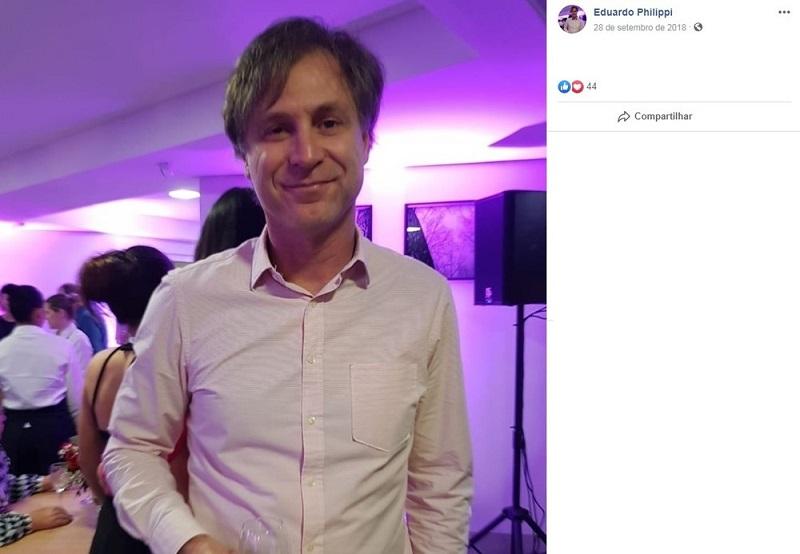 O médico cardiologista Eduardo Philippi é uma das vítimas do acidente — Foto: Reprodução/Facebook